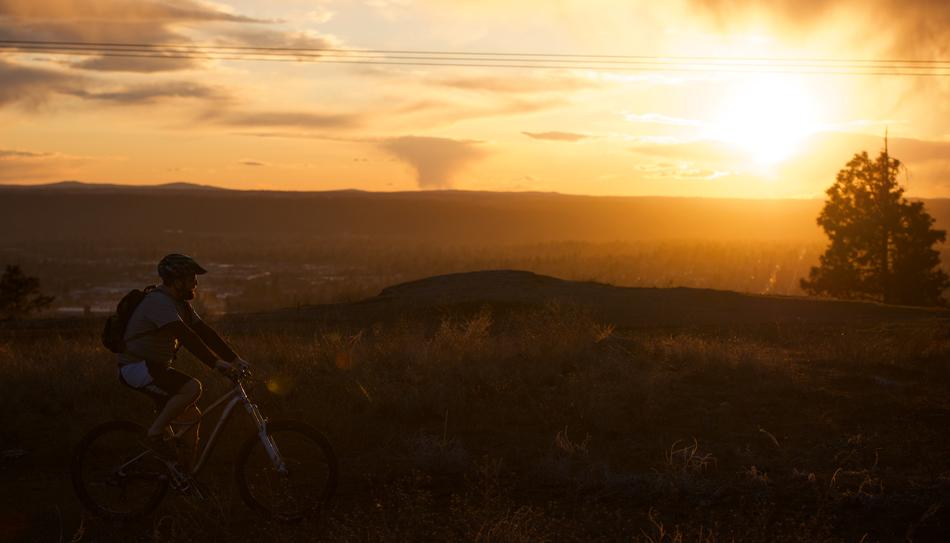 Spokane Bike Ride at Sunset.